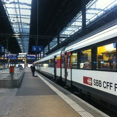 Photo taken at Basel SBB Railway Station (ZDH) by Svetlana T. on 2/5/2013