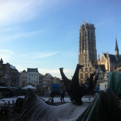 Photo taken at Grote Markt by Serge D. on 1/13/2013