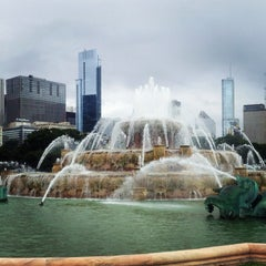 Photo taken at Clarence Buckingham Memorial Fountain by Chris H. on 7/27/2013