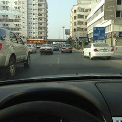Photo taken at شارع فلسطين تقاطع المدينة by Saleh K. on 1/19/2013