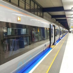 Photo taken at Heathrow Airport Terminals 1, 2 & 3 London Underground Station by Valyuu on 3/1/2013