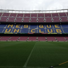 Photo taken at Camp Nou by Dalton A. on 4/26/2013