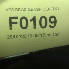 Photo taken at Previdência Social (APS Brás) by Jeeh C. on 2/28/2013