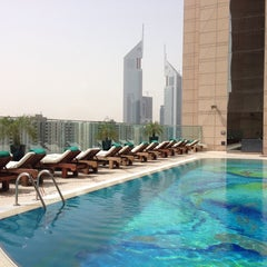Photo taken at Fairmont Dubai by Bilal M. on 5/23/2013