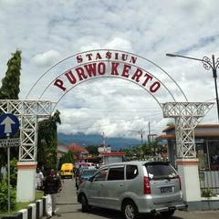 Photo taken at Stasiun Purwokerto by Ega P. on 1/24/2013