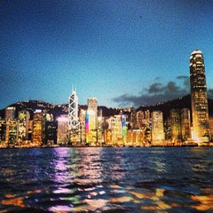 Photo taken at Victoria Harbour 維多利亞港 by Benj R. on 6/7/2013