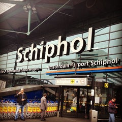 Photo taken at Amsterdam Airport Schiphol (AMS) by Ahren B. on 7/4/2013