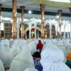 Photo taken at Masjid Agung Al-Falah by Farah Martariza P. on 8/8/2013