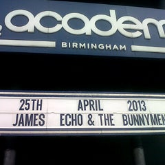 Photo taken at O2 Academy Birmingham by Peter B. on 4/25/2013
