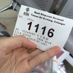 Photo taken at Bank Simpanan Nasional (BSN) Serdang by Pei yi on 7/7/2015