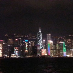Photo taken at Victoria Harbour 維多利亞港 by Annee T. on 12/9/2012