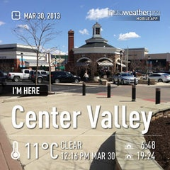 Photo taken at The Promenade Shops at Saucon Valley by Chris C. on 3/30/2013