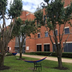 Photo taken at Houston Baptist University by Dimka P. on 11/6/2015