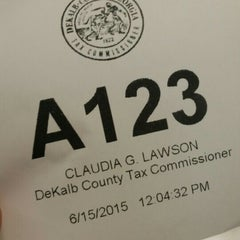 Photo taken at Dekalb County Tax Commissioner by danzig e. on 6/15/2015
