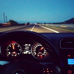 Photo taken at Autostrada A13 by Luca F. on 8/15/2014