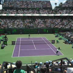 Photo taken at Crandon Tennis Center by Ricardo S. on 3/30/2013