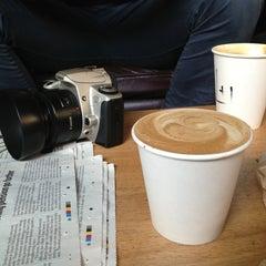 Photo taken at Brick Lane Coffee by Edan C. on 3/4/2013