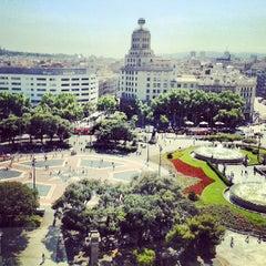 Photo taken at Plaça de Catalunya by Tommi N. on 6/10/2013