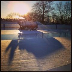 Photo taken at larz anderson skating rink by David R. on 1/27/2013