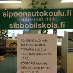 Photo taken at Sipoon Autokoulu by Rikhard L. on 2/6/2013