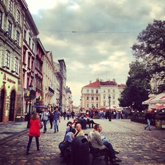 Photo taken at Площа Ринок / Rynok Square by Вадим Л. on 7/16/2013