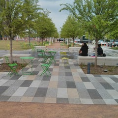 Photo taken at Klyde Warren Park by Richard B. on 4/17/2013