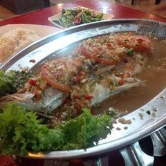 Photo taken at Lesung Batu Cafe by John F S. on 5/1/2014