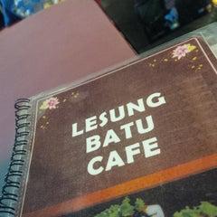 Photo taken at Lesung Batu Cafe by John F S. on 7/19/2013