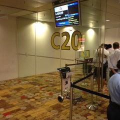 Photo taken at Gate C20 by Taku 目. on 9/20/2013