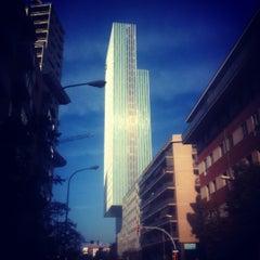 Photo taken at Meliá Barcelona Sky by Pedro P. on 10/24/2012