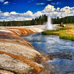 Photo taken at Black Sand Basin by Jonathan A. on 8/1/2013