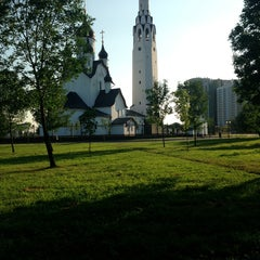 Photo taken at Парк Строителей by Lena P. on 7/29/2013