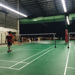 Photo taken at CC Badminton Court by IZE W. on 2/21/2016