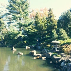 Photo taken at Shofuso Japanese House and Garden by maria ☆. on 10/19/2014