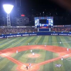 Photo taken at 横浜スタジアム (YOKOHAMA STADIUM) by godhorse on 5/8/2013