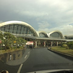 Photo taken at Sultan Hasanuddin International Airport (UPG) by Andee Y. on 4/4/2013