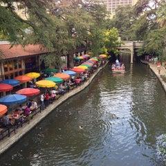 Photo taken at The San Antonio River Walk by John Mark C. on 10/14/2012