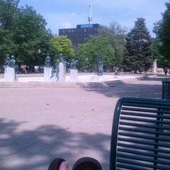 Photo taken at Bronson Park by Paula M. on 5/19/2013