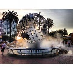 Photo taken at Universal Studios Hollywood Globe and Fountain by Ramil Victor A. on 3/26/2013