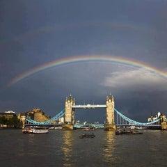 Photo taken at London Bridge City Pier by Mari C. on 5/4/2013