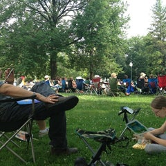Photo taken at Bronson Park by Jennifer R. on 7/7/2013