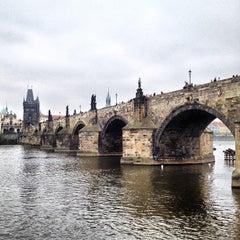 Photo taken at Karlův most   Charles Bridge by Mikhail S. on 5/2/2013
