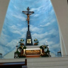 Photo taken at Gereja Katolik Roh Kudus by alfonza n. on 4/18/2015
