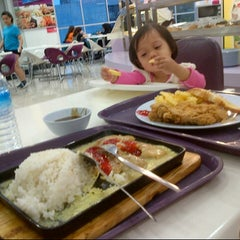 Photo taken at Food Court Kepong Village Mall by iynah R. on 2/25/2013
