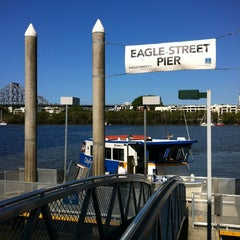 Photo taken at Eagle Street Pier Ferry Terminal by Spatial Media on 11/25/2012