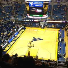 Photo taken at WVU Coliseum by Kayla Y. on 12/8/2012