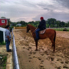 Photo taken at Pimlico Race Course by Jon S. on 5/11/2013