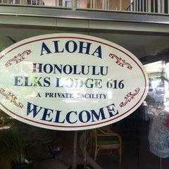 Photo taken at Elks Lodge 616, Honolulu by Louisa P. on 9/5/2014