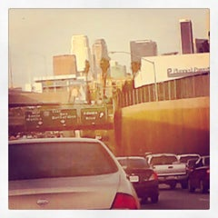 Photo taken at I-110 (Harbor Freeway) by End In Mind E. on 4/11/2015