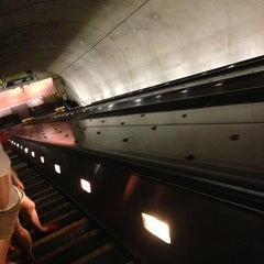 Photo taken at Tenleytown-AU Metro Station by André P. on 7/14/2013